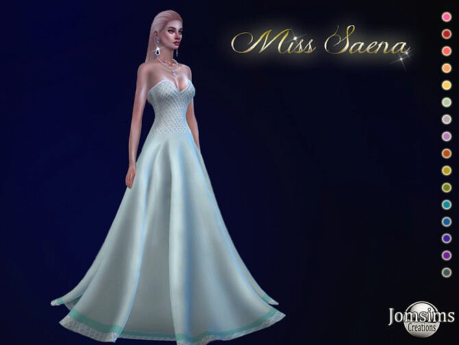 Sims 4 Miss Saena ball gown by jomsims at TSR