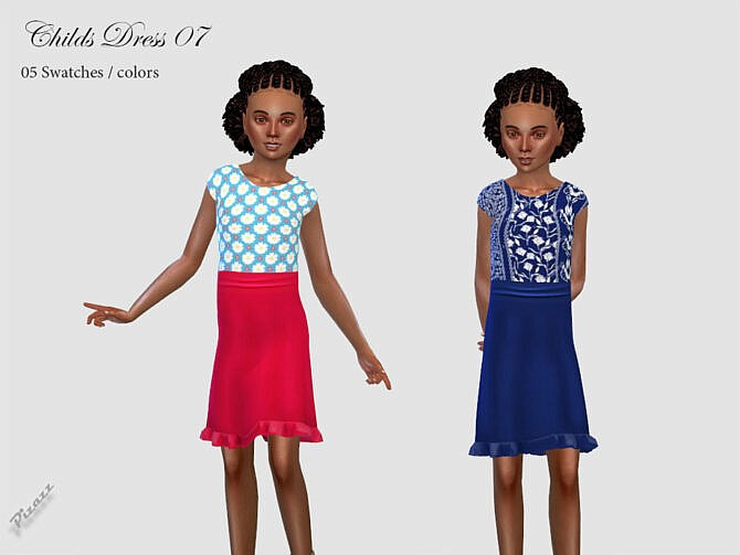 Sims 4 Dress for girls 07 by pizazz at TSR