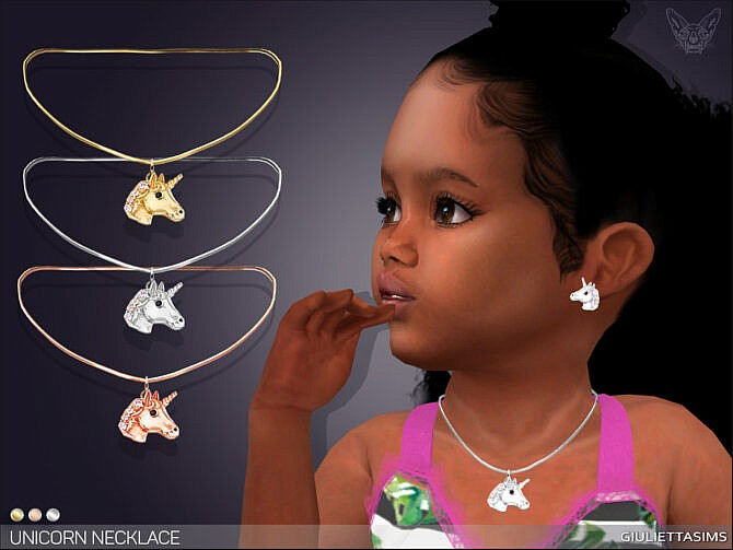 Sims 4 Unicorn Necklace For Toddlers by feyona at TSR