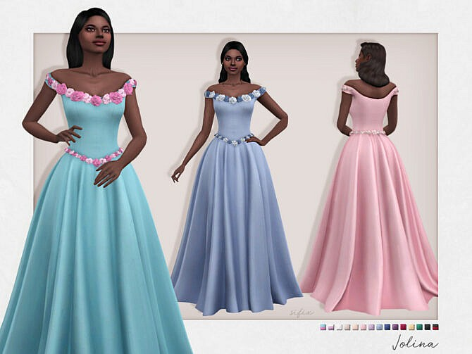 Sims 4 Jolina Gown by Sifix at TSR