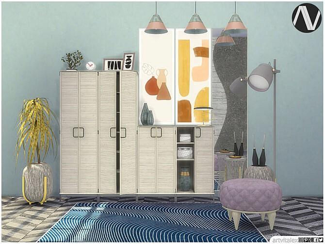 Sims 4 Hampton Hallway by ArtVitalex at TSR