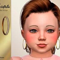 Cristalia Toddler Hoops Earrings By Suzue