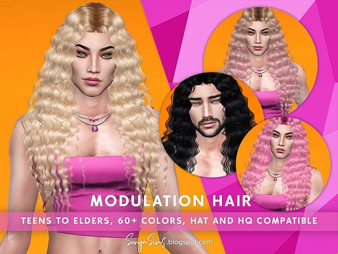 Sims 4 Modulation Hair for males by SonyaSimsCC at TSR