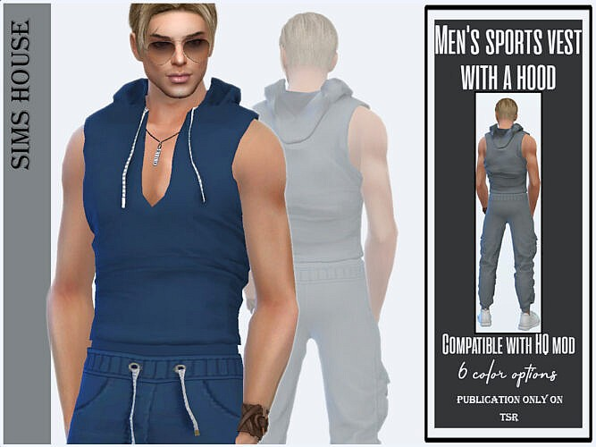 Men's Sports Vest With A Hood By Sims House