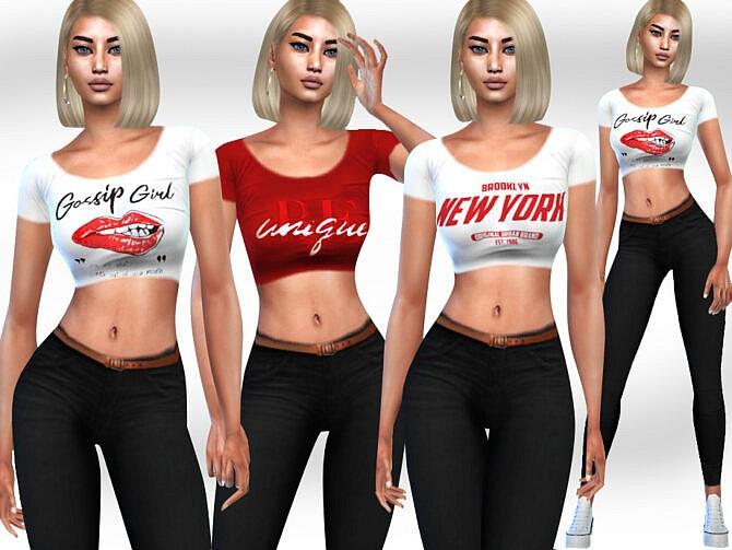 Sims 4 FullBody Cropped Outfits by Saliwa at TSR