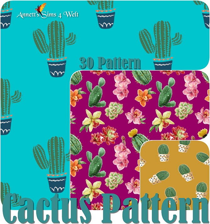 Sims 4 30 Cactus Patterns at Annett's Sims 4 Welt