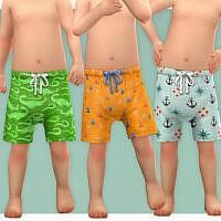 Toddler Bathing Shorts P04 By Lillka