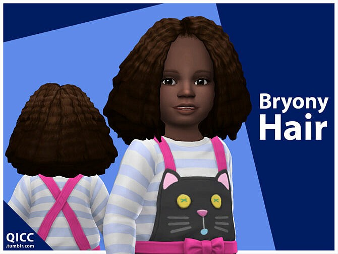 Sims 4 Bryony Hair Toddler by qicc at TSR