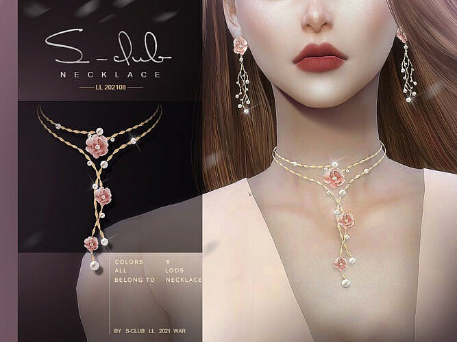 Flower Necklace 202108 By S-club Ll