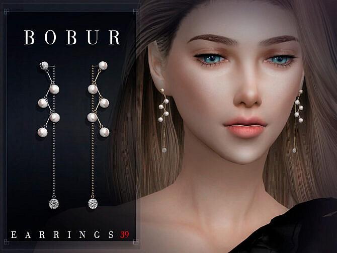 Sims 4 Pearl Earrings 39 by Bobur3 at TSR