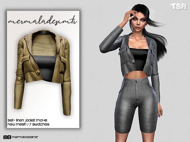 Set Linen Jacket Mc146 By Mermaladesimtr