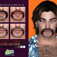 Retro Mustache V1-v2 By Merci
