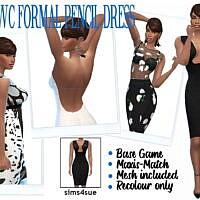 Rhowc's Formal Pencil Dress