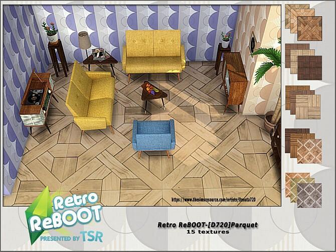 Sims 4 Retro D720 Parquet by Danuta720 at TSR
