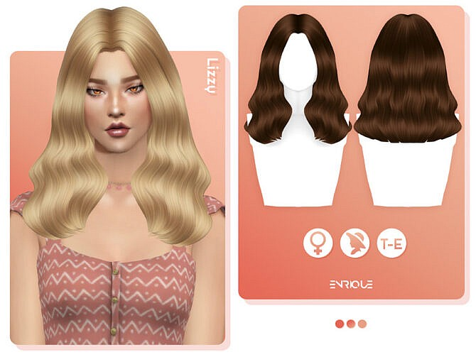 Sims 4 Lizzy Hairstyle by EnriqueS4 at TSR