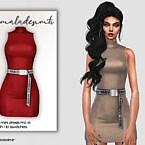 Belt Detail Mini Dress Mc171 By Mermaladesimtr