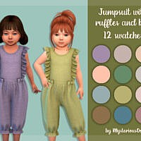 Jumpsuit With Ruffles And Bows By Mysteriousoo