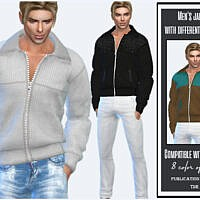 Men's Jacket With Different Textures By Sims House