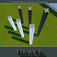 X-shaped Deco Column Set (all Sizes) By Tyravb
