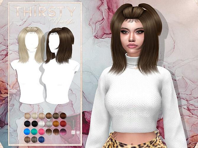 Sims 4 Thirsty Hair by JavaSims at TSR