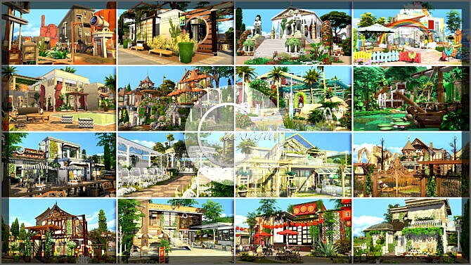 Sims 4 120 Residential & Community Lots Ultimate Pack at Cross Design