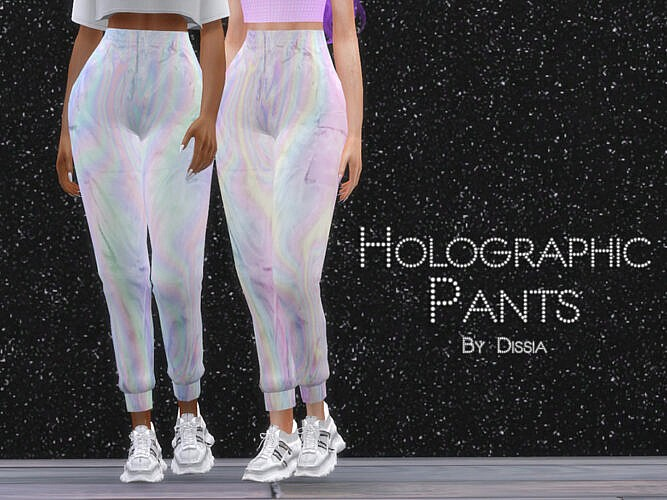 Holographic Pants By Dissia