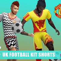 Uk Footie Kit Shorts By Simmiev