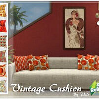 Retro Vintage Cushion By Philo