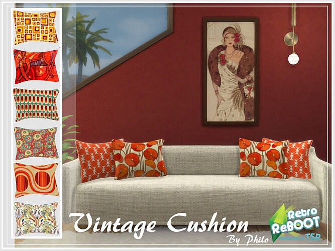 Retro Vintage Cushion By Philo