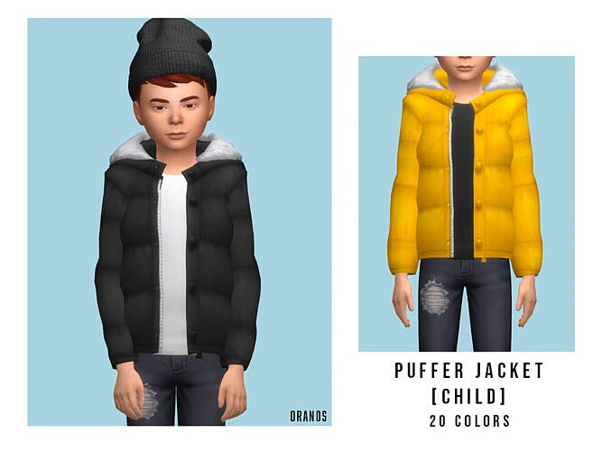 Puffer Jacket Child By Oranostr