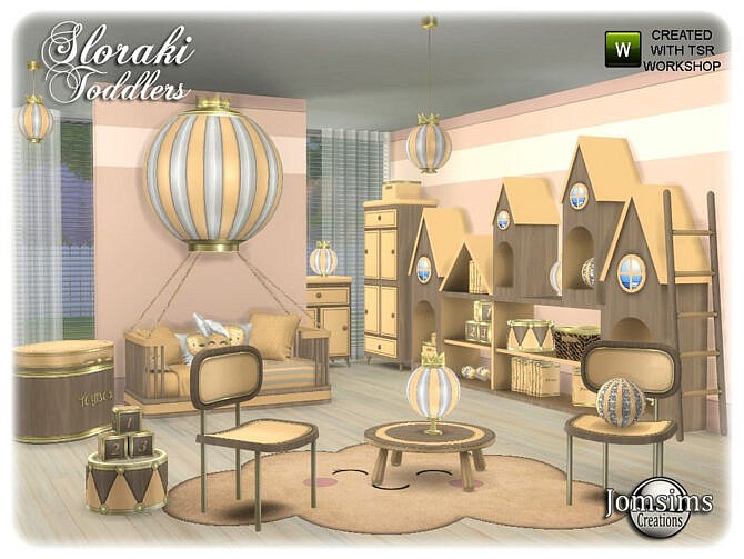 Sims 4 Sloraki toddlers bedroom part 2 by jomsims at TSR