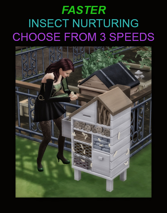 Sims 4 Faster Insect Nurturing 3 Speeds by Simmiller at Mod The Sims 4