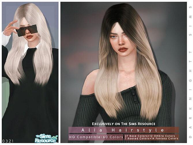 Sims 4 Alia Hair by DarkNighTt at TSR