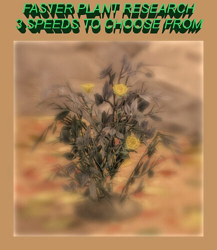 Faster Plant Research 3 Speeds By Simmiller