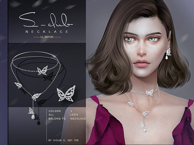 Butterfly Necklace 202105 By S-club Ll