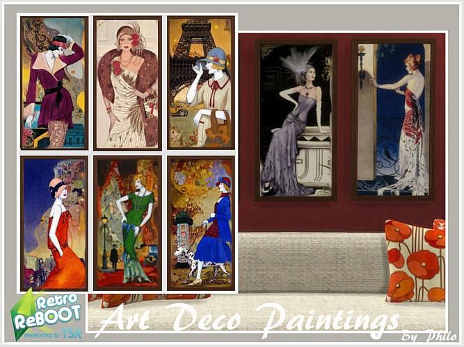 Retro Art Deco Paintings By Philo