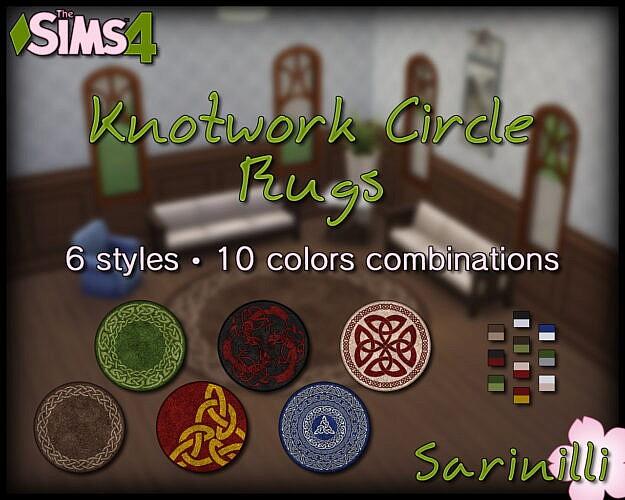 Knotwork Circle Rugs By Sarinilli