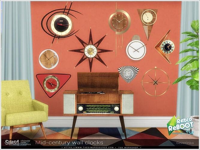 Mid-century Wall Clocks By Severinka