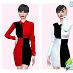 Retro 60s Block Dress By Pinkfizzzzz