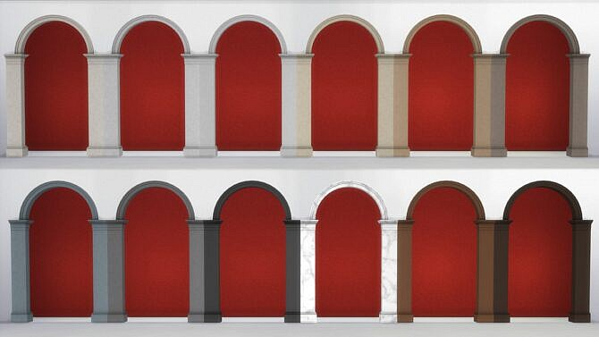 Sims 4 Doric Arches and Niche by TheJim07 at Mod The Sims 4