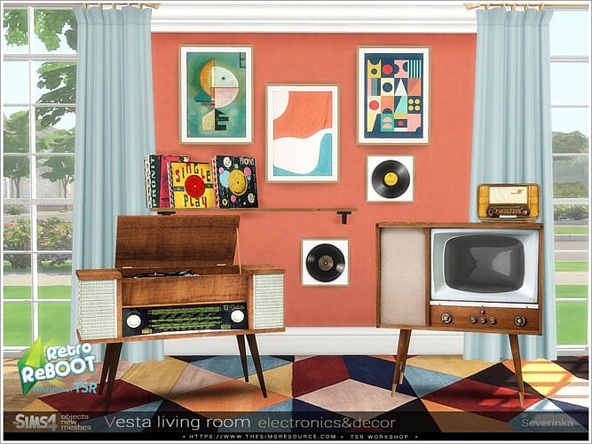 Vesta Livingroom Electronics / Decor By Severinka