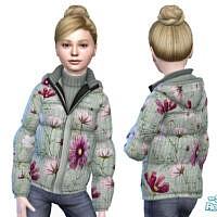 Spring Flower Coat By Pinkfizzzzz