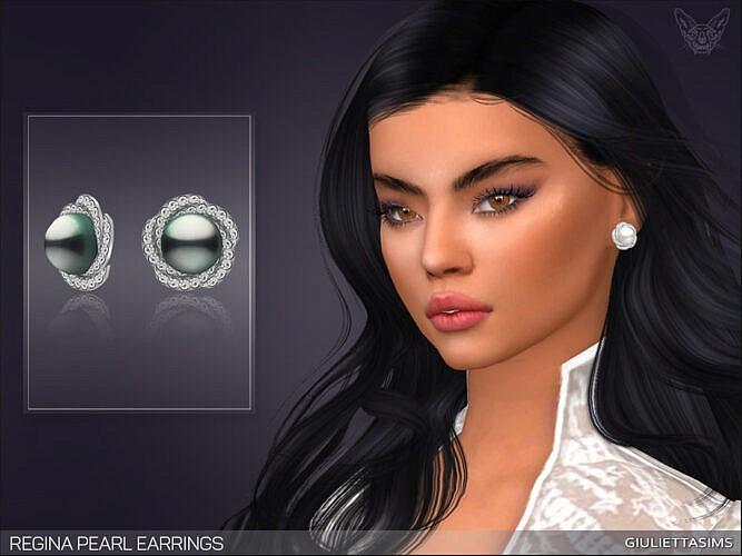 Regina Pearl Earrings By Feyona
