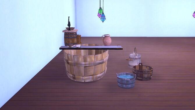 Sims 4 Medieval Bathroom Set by MiraiMayonaka at Mod The Sims 4