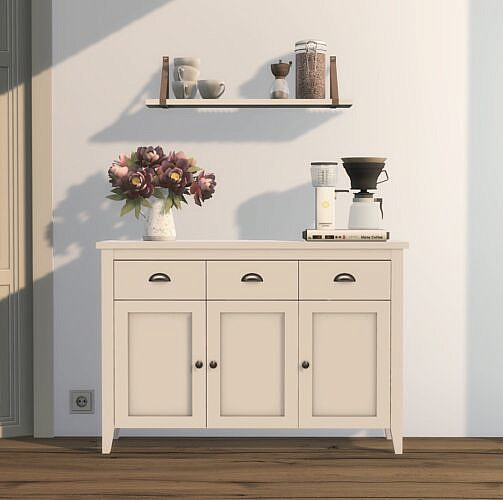 Aulum Sideboard & Shelf With Leather Strap