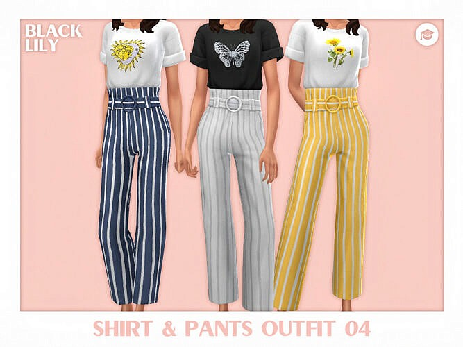 Shirt & Pants Outfit 04 By Black Lily