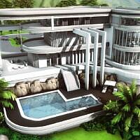 Modern Mansion By Plumbobkingdom