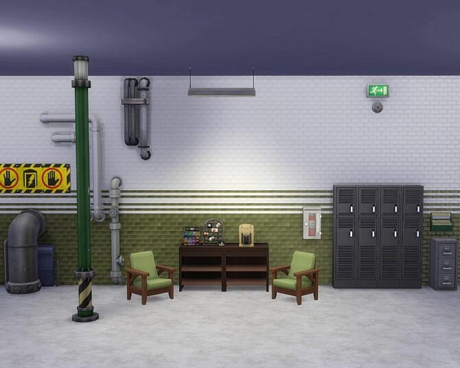 Sims 4 Haunted Firehouse Walls by Sarinilli at TSR