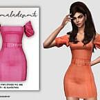 Belt Detail Mini Dress Mc166 By Mermaladesimtr
