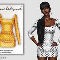 Polka Dot Mini Dress Mc167 By Mermaladesimtr